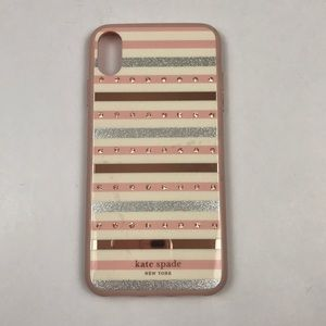 Kate Spade IPhone XS Max Striped Rhinestone Case